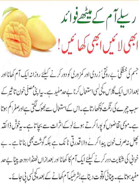 Mang benefits in urdu