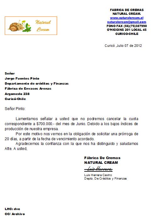 Formacion Para El Trabajo Secretariado Carta De Solicitud