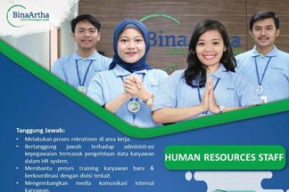 Lowongan Kerja Human Resouces Staff di Bina Artha