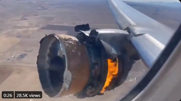 A United Airlines flight encountered a motor disappointment soon after departure from Denver International Airport on Saturday,