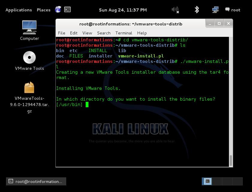 Installing: Linux Installing Vmware Tools