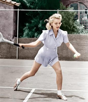 Carole Landis Playing Tennis