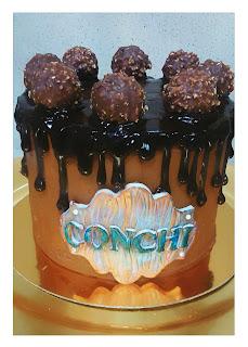 ferrero cake, tarta drip ferrero roche,