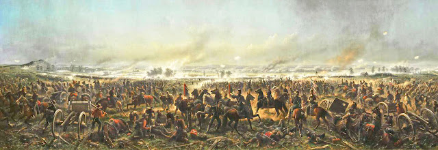 painting of Longstreet's repulse at Gettysburg from wpclipart.com