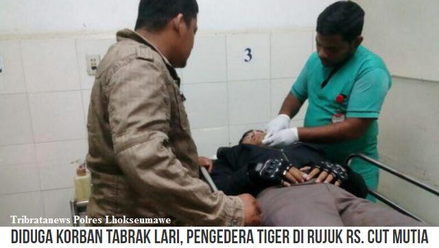 Seorang Warga Desa Ulee Tanoh, Aceh Timur dievakuasi ke RS Cut Mutia