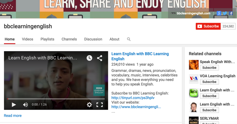 5 Great YouTube Channels for Learning English