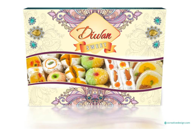 Floral Sweet Box Design in CorelDRAW