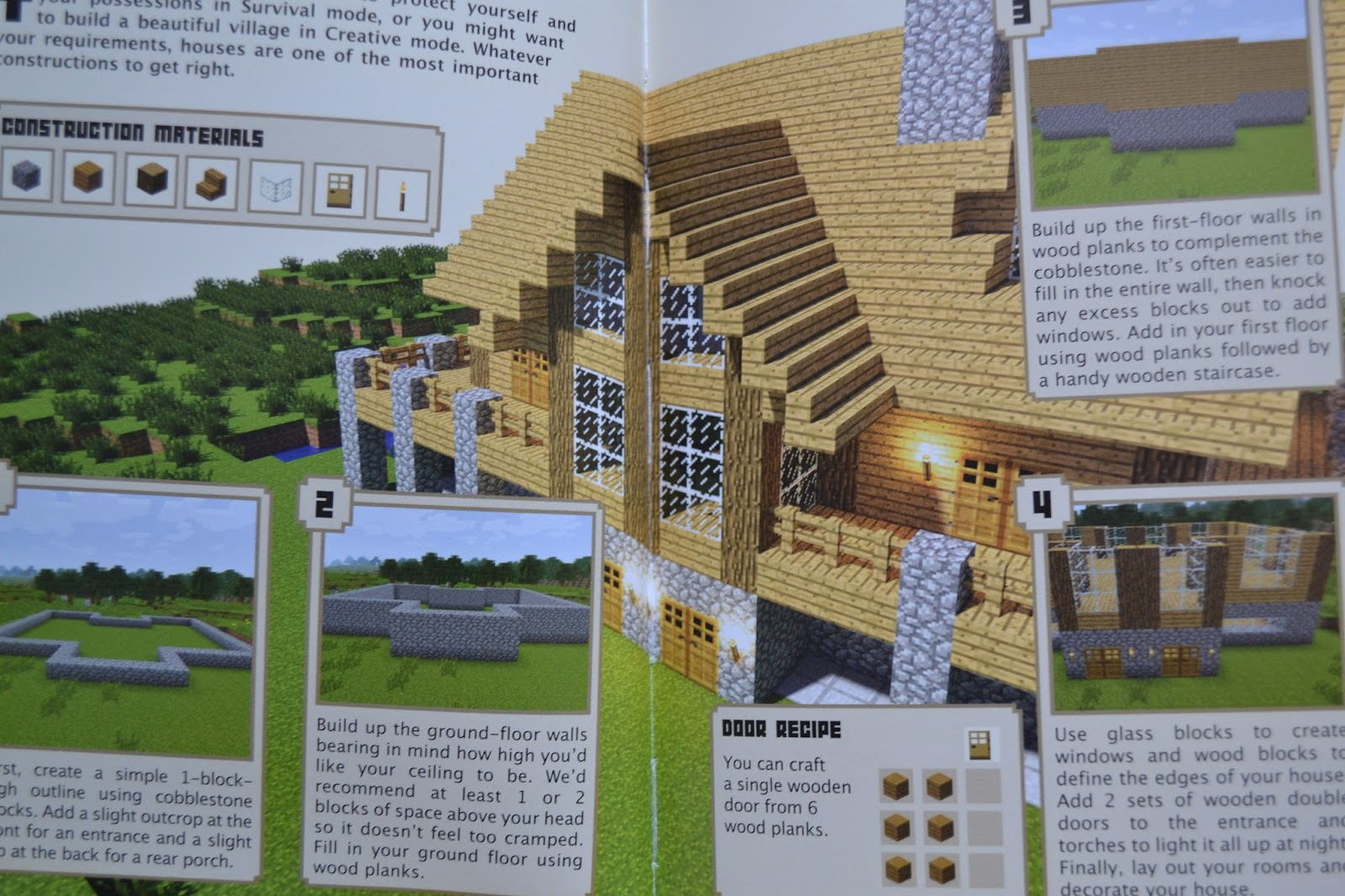 Minecraft construction handbook review ups downs for Building builder online