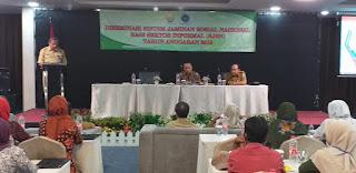 Plt Kadisnakertrans Provinsi Jambi Membuka Secara Resmi Diseminasi Sistem Jaminan Sosial NasionalBagi Sektor Informal