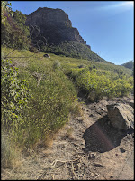Trail Head for Slide Canyon on East Side of Parking Lot
