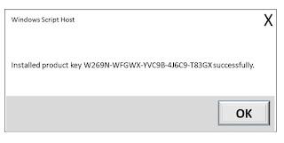 slmgr /ipk W269N-WFGWX-YVC9B-4J6C9-T83GX