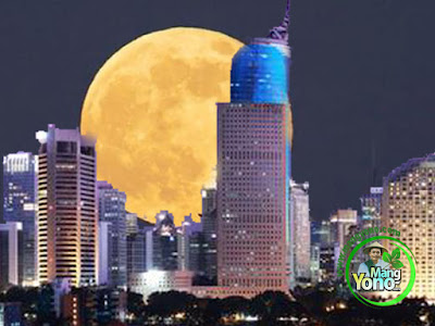 Ilustrasi : Supermoon / Bulan Purnama Raksasa di Jakarta