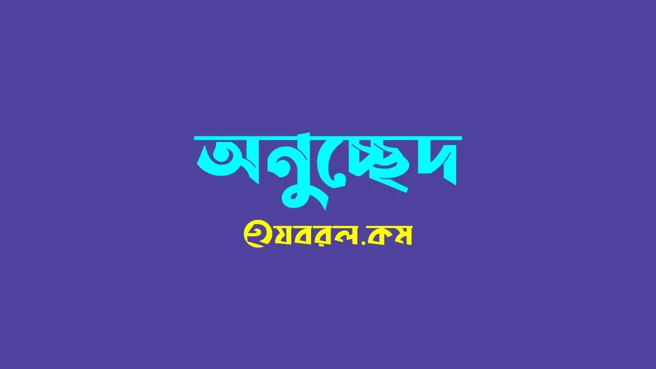 বঙ্গবন্ধু / শেখ মুজিবুর রহমান - অনুচ্ছেদ