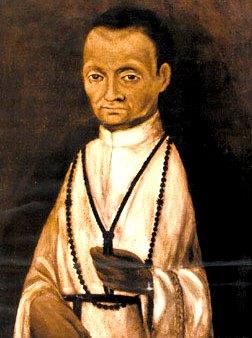 Retrato de San Martín de Porres con su cara original