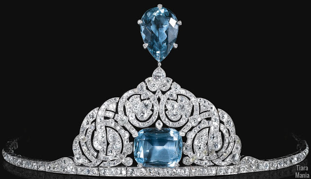 princess olga paley russia cartier aquamarine aigrette tiara