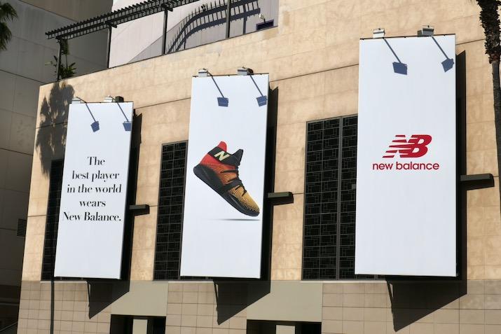 best player in world wears New Balance billboards