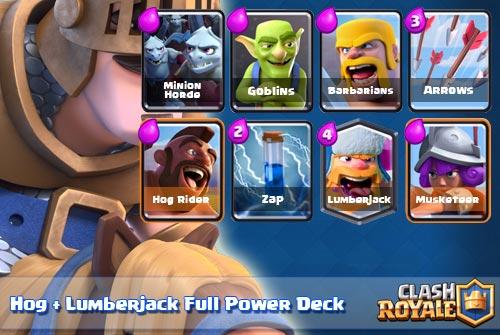 Strategi Deck Hog Rider Lumberjack Arena 8 9 Clash Royale
