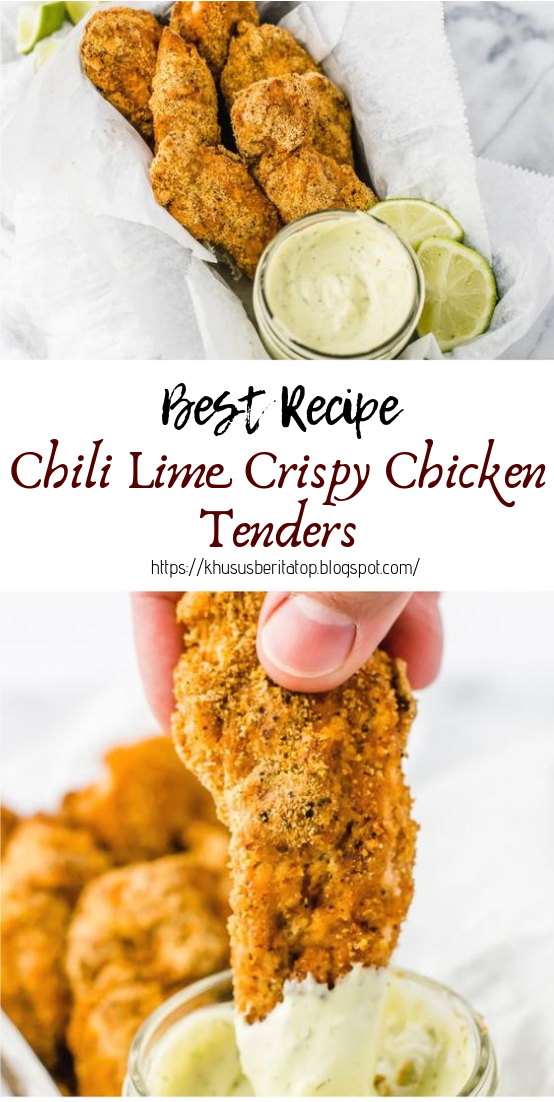 Chili Lime Crispy Chicken Tenders #healthyfood #dietketo