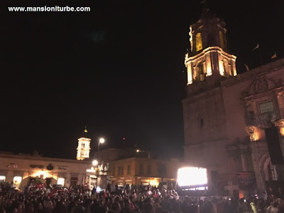 Plaza Valladolid in Morelia during the K'uinchekua