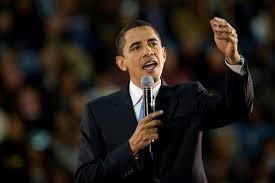 演説中のオバマ大統領