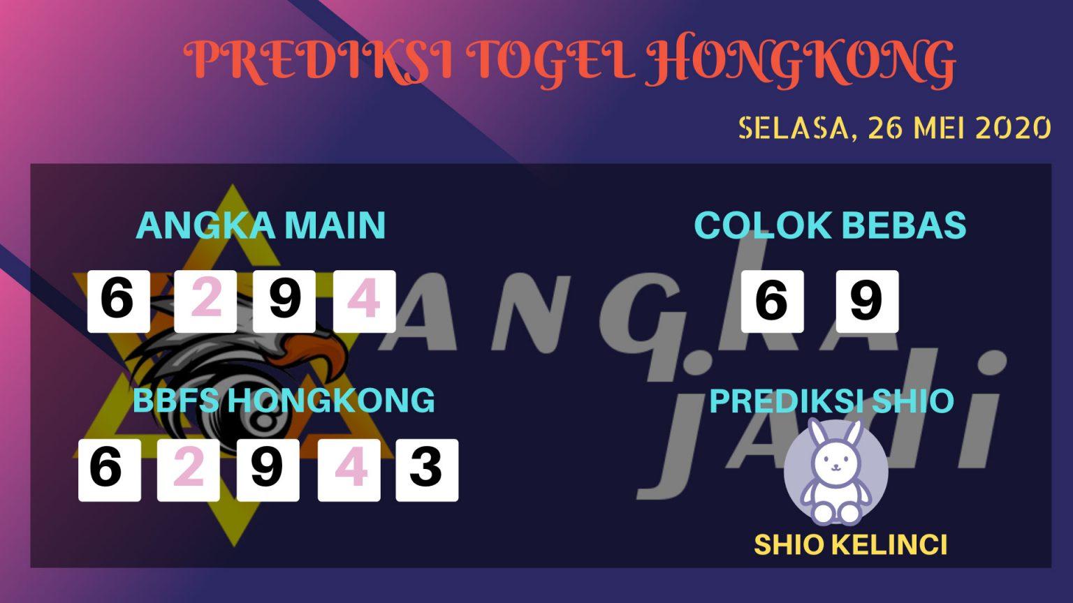 Prediksi Togel Hongkong Selasa 26 Mei 2020 - Bocoran HK