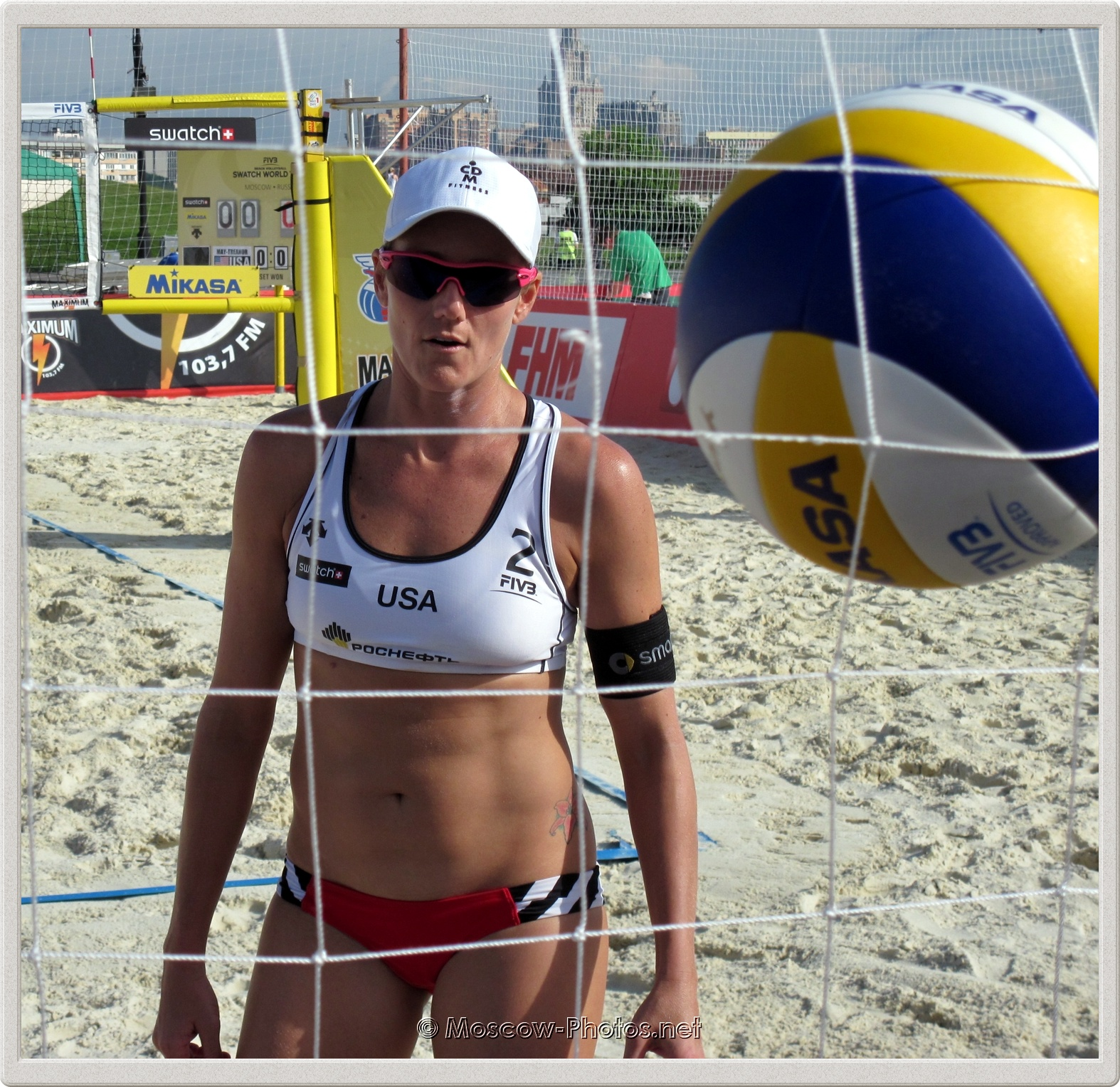 Jennifer Kessy and Mikasa Ball