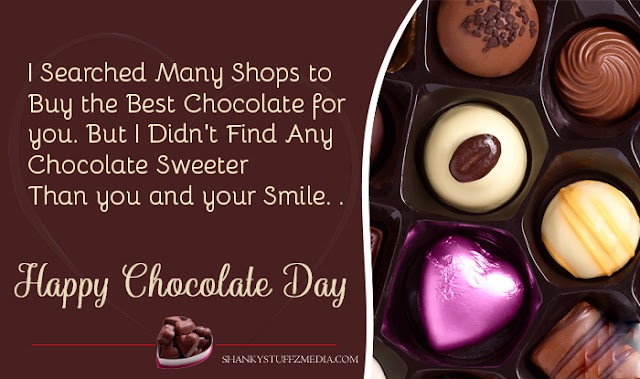 Chocolate Day wishes images messages for girlfriend in English