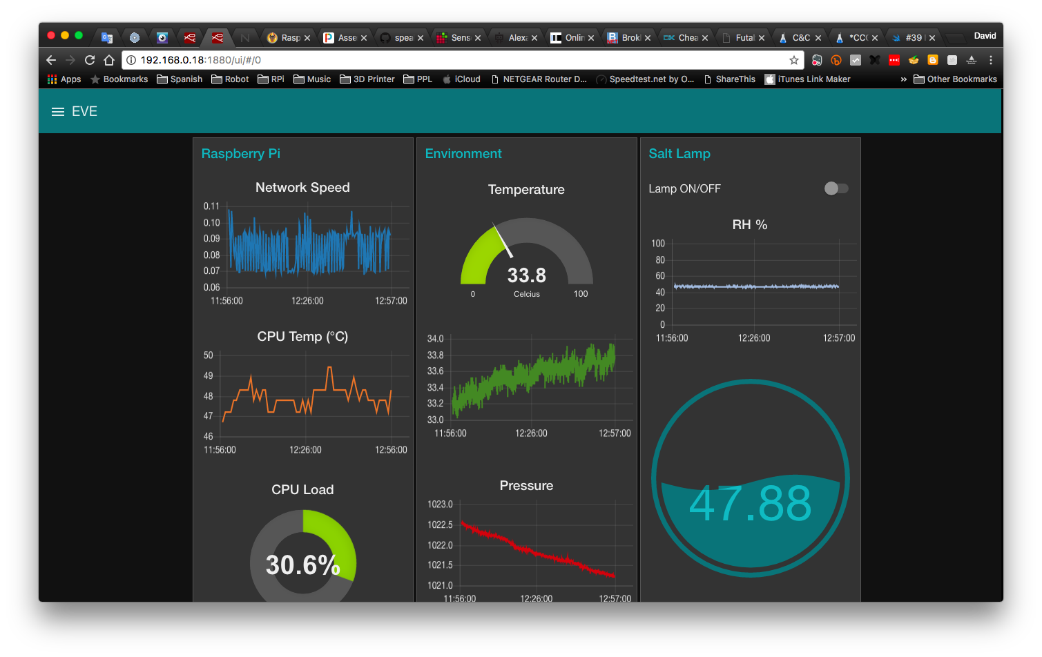 Reefwing Robotics: Node Red Dashboard for Raspberry Pi