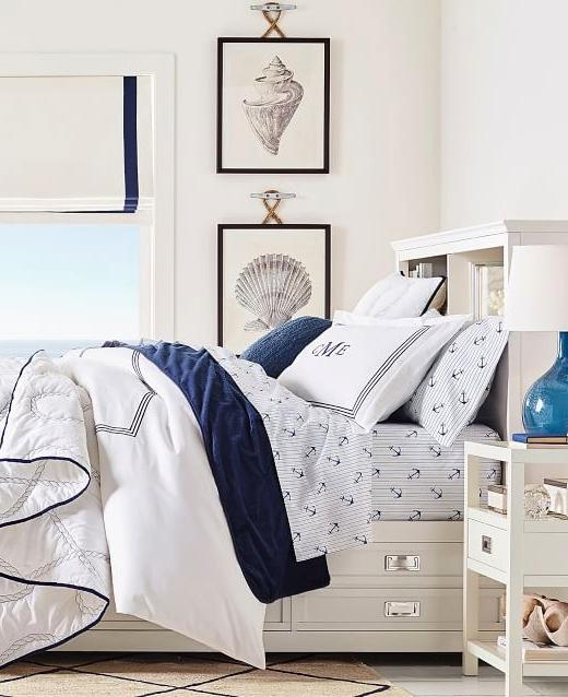 Set of 2 Piece Sea Shell Art Bedroom