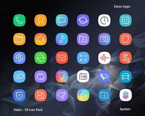 Download Delux - S9 Icon Pack