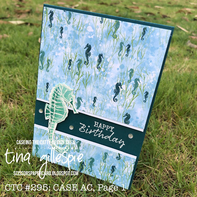 scissorspapercard, Stampin' Up!, CASEing The Catty, Seaside Notions, Whale Of A Time DSP
