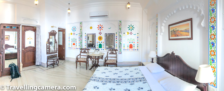 6. I can almost guarantee that it will be hard to find such spacious rooms at this rate around Lake Pichola in Udaipur. Each floor has one room only and hence much spacious than we expected. That certainly enhance your stay experience.