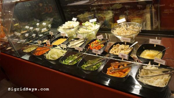Bowlero Mongolian Bowl - Bacolod restaurants - vegetable bar