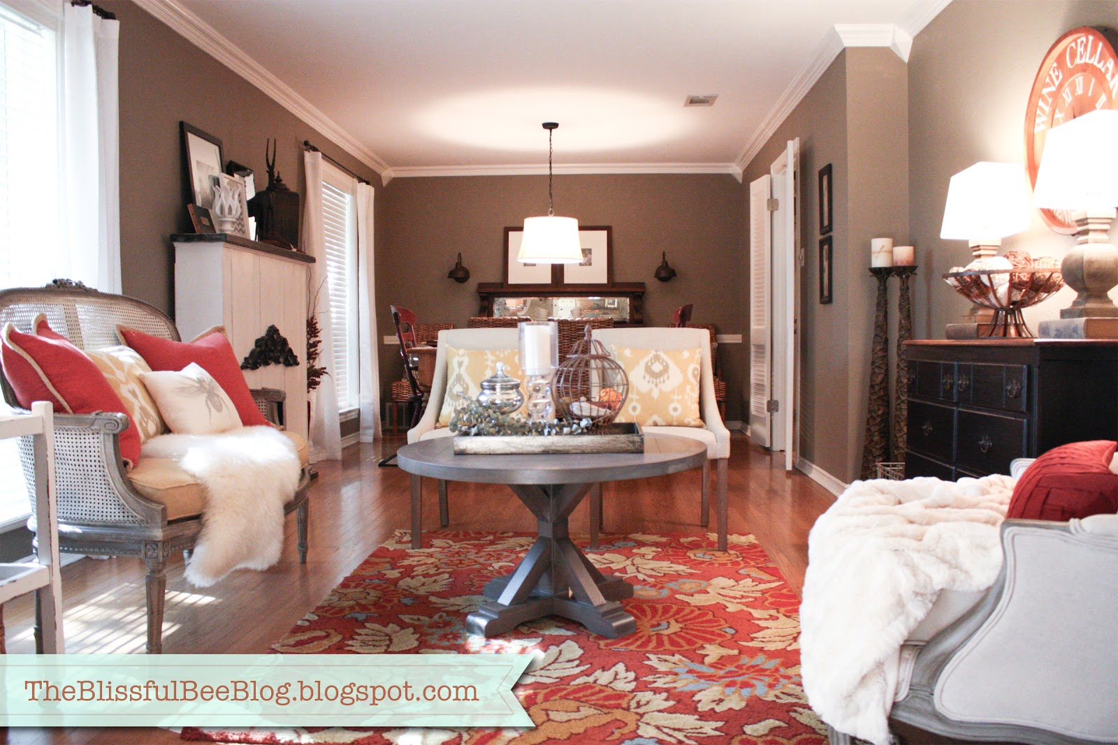 Formal Living Room Updates  THE BLISSFUL BEE