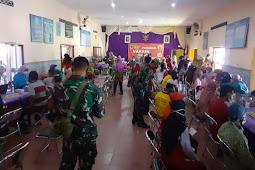 Koramil Jogonalan Laksanakan Monitoring Dan Pengamanan Vaksinasi Covid-19 di Wilayah Binaan