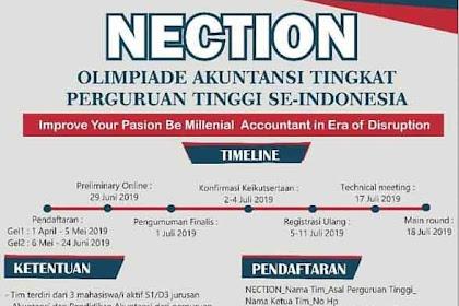 Olimpiade Akuntansi Mahasiswa Nasional NECTION 2019 Unnes