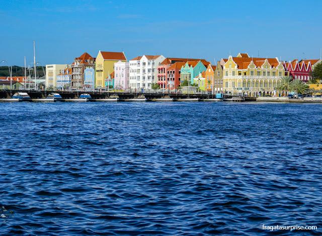 Casinhas coloridas do Handelskade, Willemstad, Curaçao