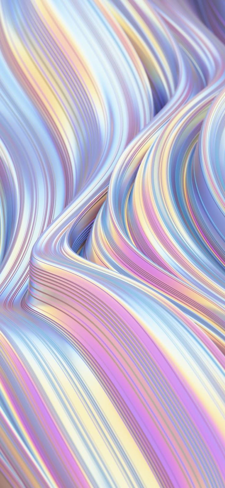abstract silk pink waves wallpaper