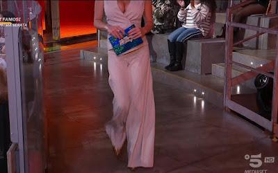 miss Claudia Ruggeri abbigliamento completo beige pantaloni 18 marzo