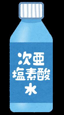 次亜塩素酸水のイラスト