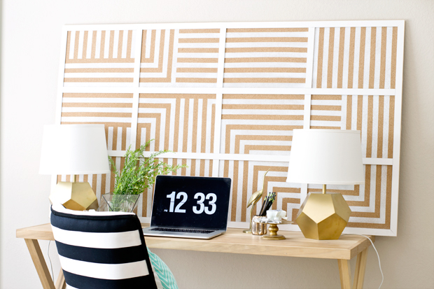 large striped pinboard