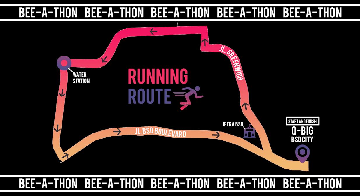 Beevol Fun Run Route 2018