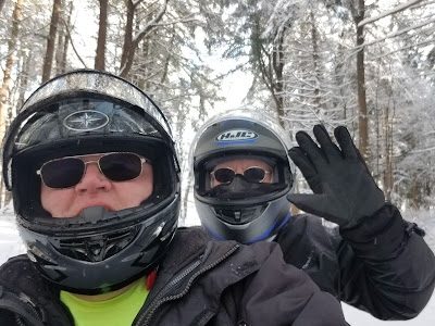 snowmobilers at Letchworth State Park