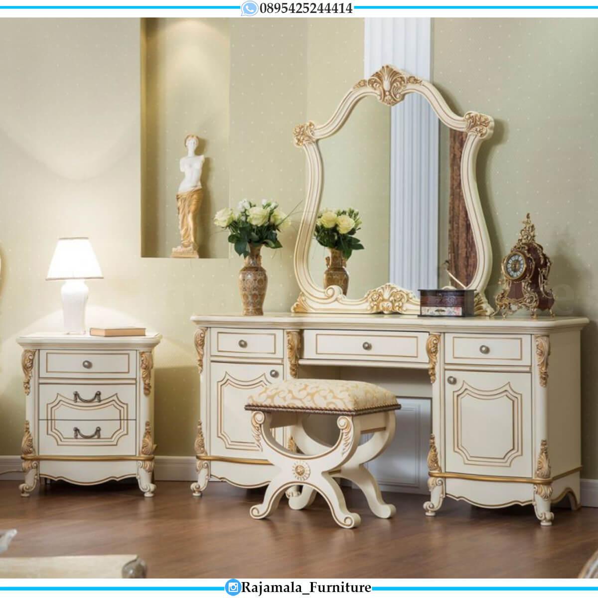 Meja Rias Mewah Jepara Luxury Carving Design Best Seller RM-0588
