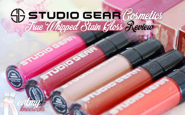 Liquid lipsticks and lip stains have been at the forefront of today's beauty trends, and today I've got a review of a set of high-quality whipped stain glosses from Studio Gear Cosmetics! In this review I'll be covering their entire line of True Whipped Stain Gloss products in five distinctive shades. - Eat My Knee Socks / Mimchikimchi