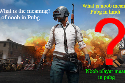 What is the meaning of noob in Pubg (What is noob meaning in Pubg in hindi)
