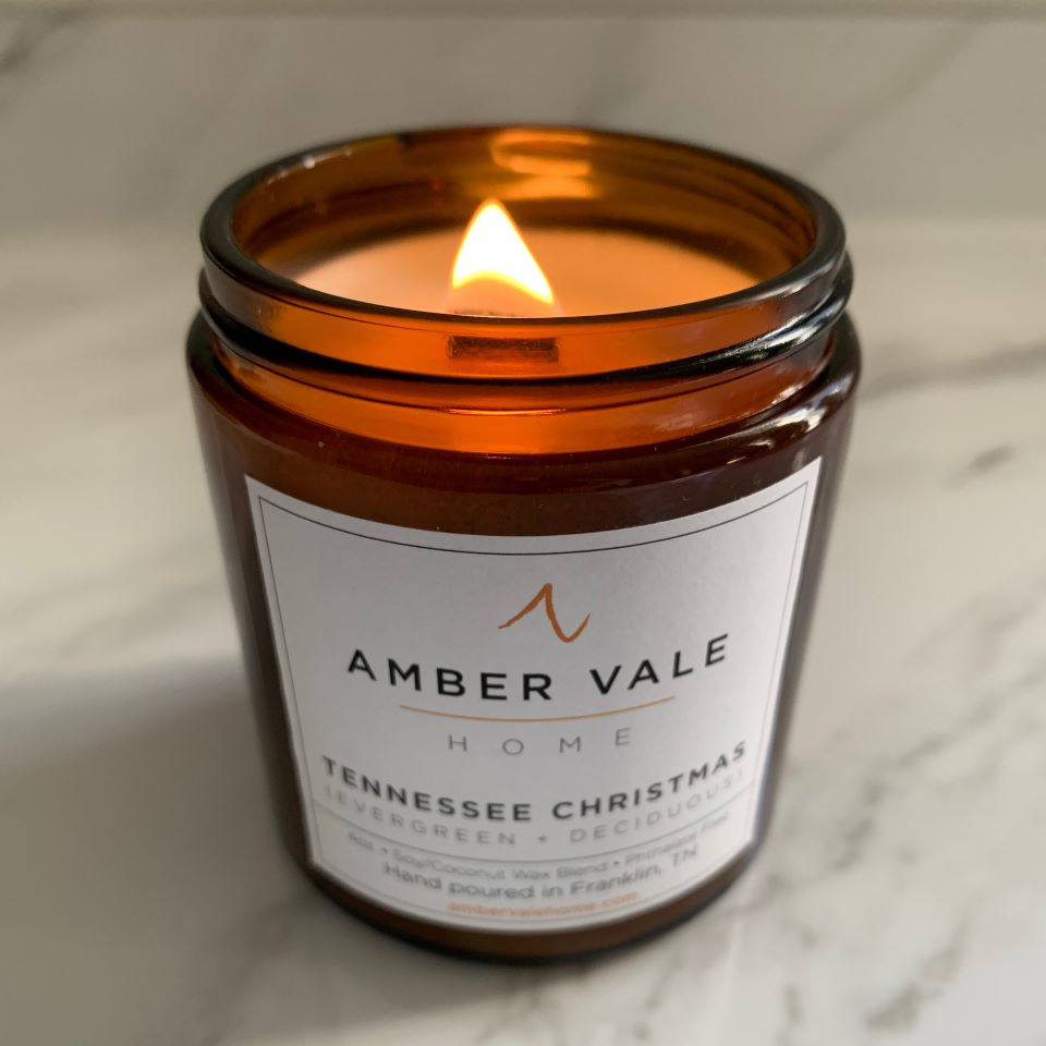 Amber Vale Home Candle Tennessee Christmas #ad