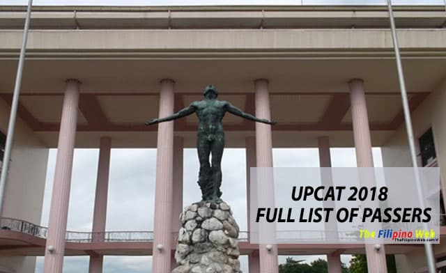A-H LIST OF PASSERS: UPCAT 2018