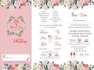 Download Thiệp cưới file corel màu hồng