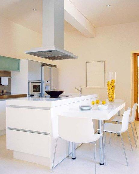 Arte y arquitectura cocinas con isla y mesa adosada - Mesa barra cocina ...